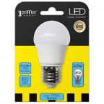 Bombilla LED Esférica E27 3W Equi.25W 249lm 6000K 15000H 1Primer Low Cost