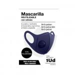 Mascarilla Reutilizable con Válvula Azul Marino O91