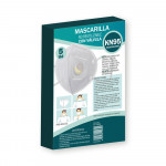 Pack 5 Mascarillas Reutilizables KN95 con Válvula Blanco O91