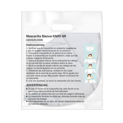 Mascarilla Reutilizable KN95 Blanco O91