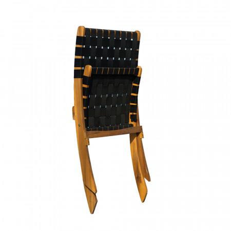 Pack 2 Sillas Plegables Lola Madera de Acacia 60x78x71cm 7house