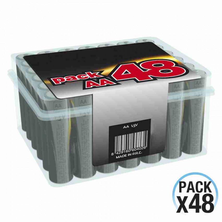 Pack 48 Pilas Alcalinas Estándar 1.5V LR06-AA 7hDayron