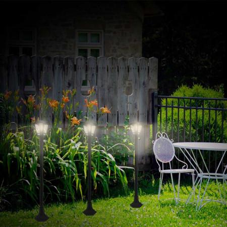 Pack 2 Farolas de Jardín Modernas 1 Luz de Exterior IP44 Negro 7hSevenOn Outdoor