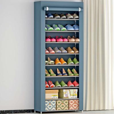 Organizador de Zapatos con 9 Baldas Blanco/Gris 60x30x158cm 7house