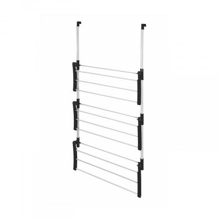 Tendedero Colgante para Puertas Gris/Negro 61x29x118cm 7house