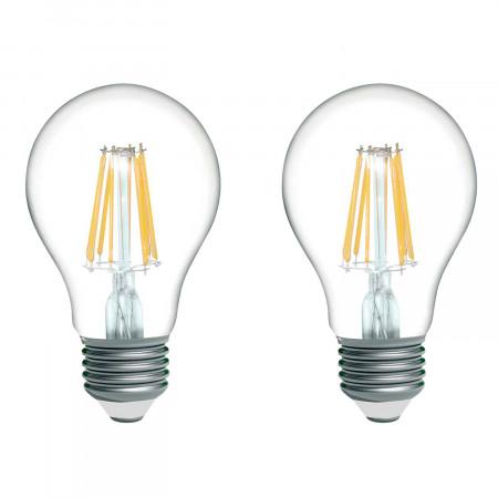 Pack 2 Bombillas LED Filamento Estándar E27 16W Equi.100W 1521lm 2700K 15000H 7hSevenOn