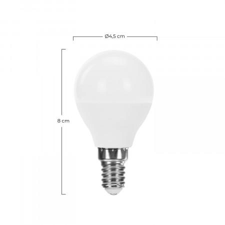 Bombilla LED Esférica E14 6W Equi.40W 470lm Raydan Home