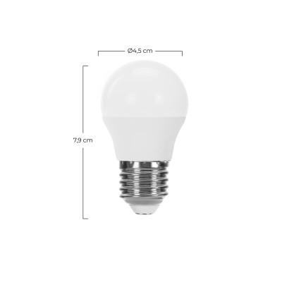Bombilla LED Esférica E27 6W Equi.40W 470lm Raydan Home