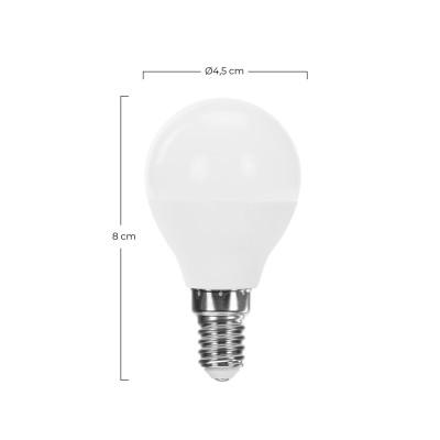 Bombilla LED Esférica E14 7,4WEqui.60W 806lm Raydan Home