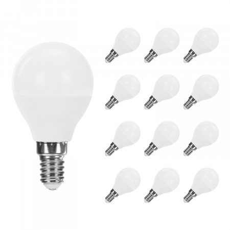 Pack 12 Bombillas LED Esférica E14 6W Equi.40W 470lm Raydan Home