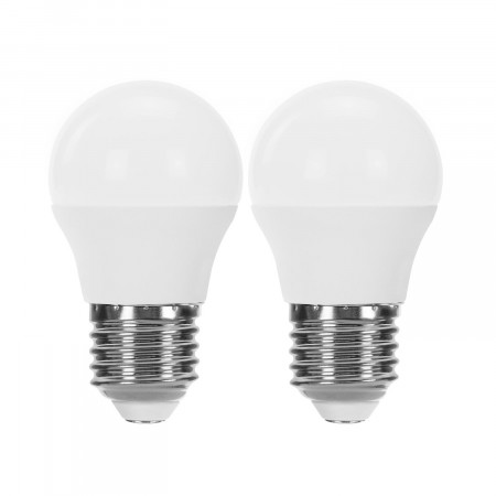 Pack 2 Bombillas LED Esférica E27 6W Equi.40W 470lm Raydan Home