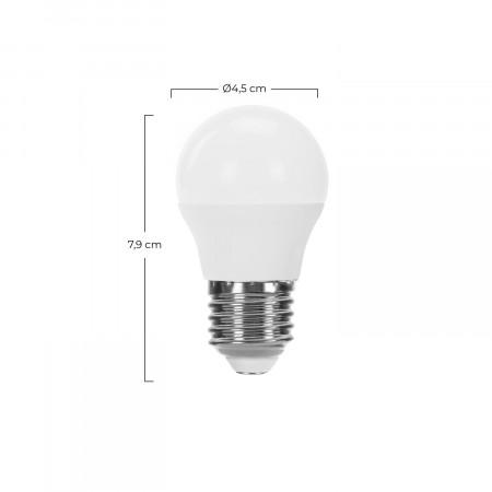 Pack 2 Bombillas LED Esférica E27 7,4W Equi.60W 806lm Raydan Home