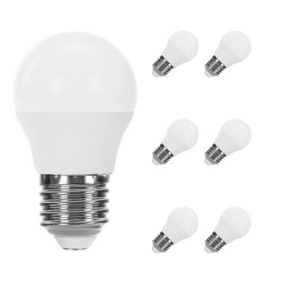 Pack 6 Bombillas LED Esférica E27 7,4W Equi.60W 806lm Raydan Home