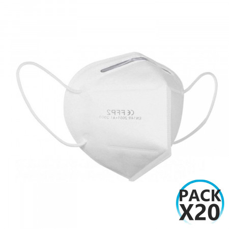 Pack 20 Mascarillas EPI FFP2 No Reutilizables KN95 Blanco O91