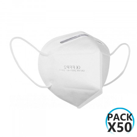 Pack 50 Mascarillas EPI FFP2 No Reutilizables KN95 Blanco O91