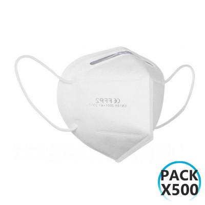 Pack 500 Mascarillas EPI FFP2 No Reutilizables KN95 Blanco O91
