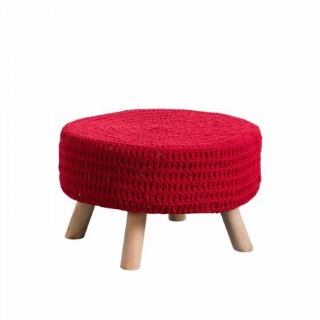 Puff Redondo Baris Rojo...