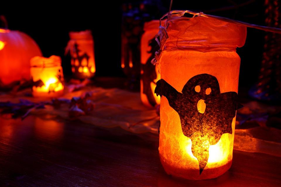 velas fantasmales halloween