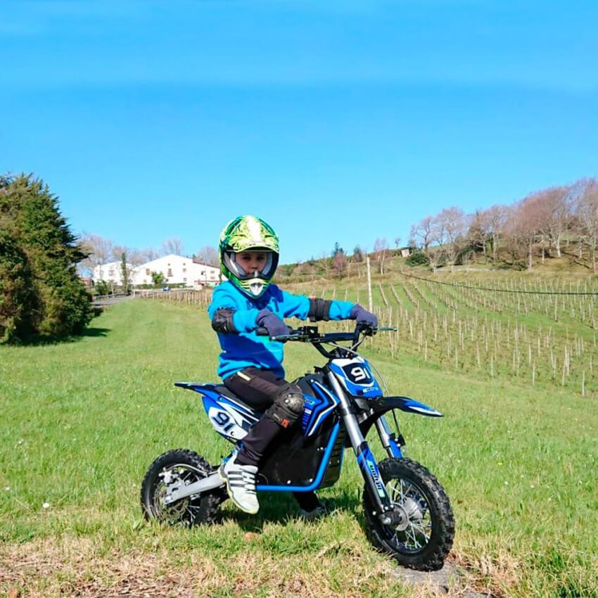 mini moto hulk azul