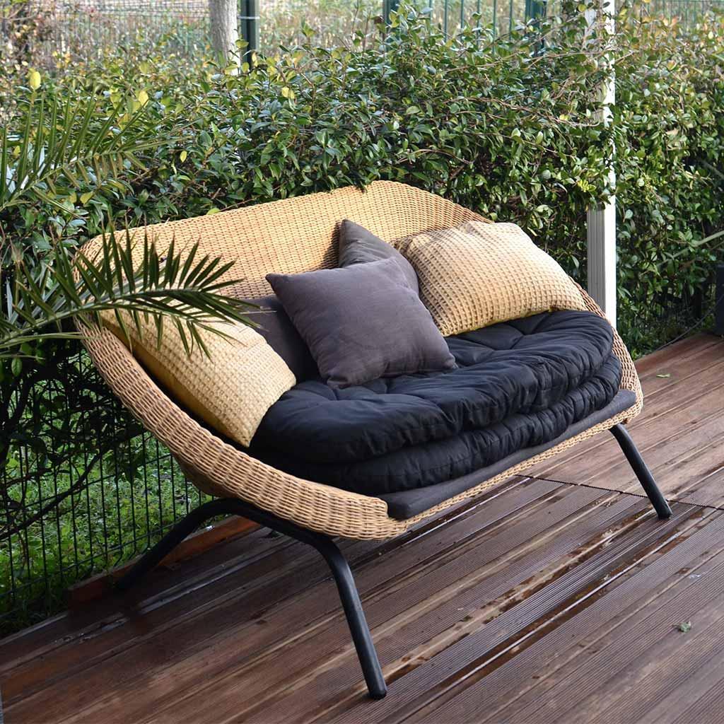 Sofá jardín para 2 personas