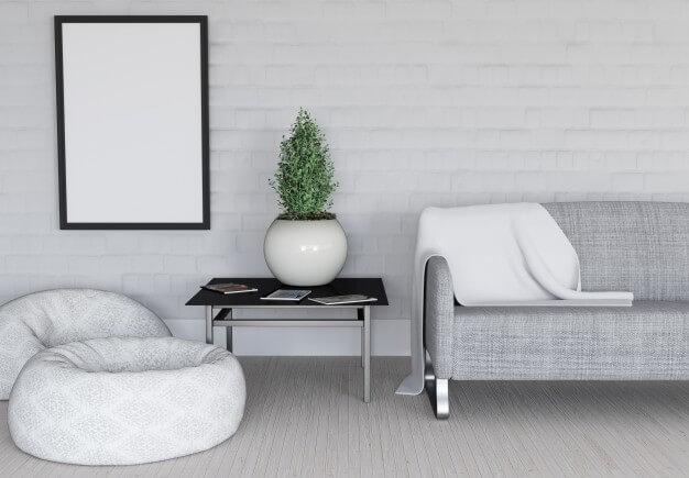 Salón estilo minimalista
