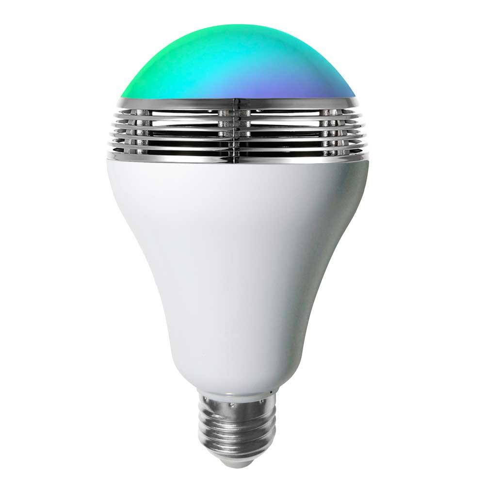 Bombilla LED con Altavoz y Bluetooth E27 9W 350lm RGB 15000H 7hSevenOn