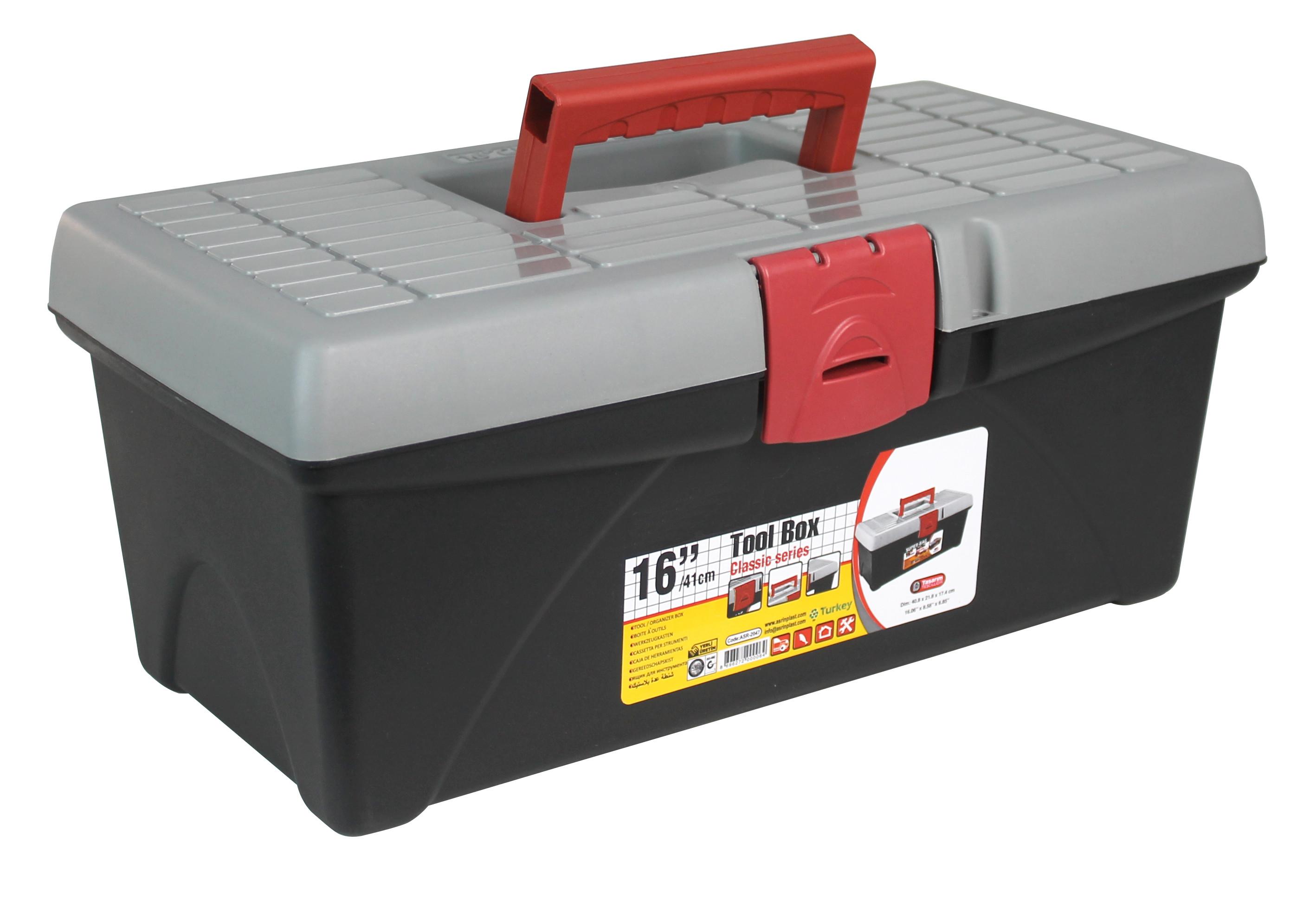 """Caja de Herramientas con Bandeja Vacía 16"""" 17,4x40,8x21,8cm GH91"""