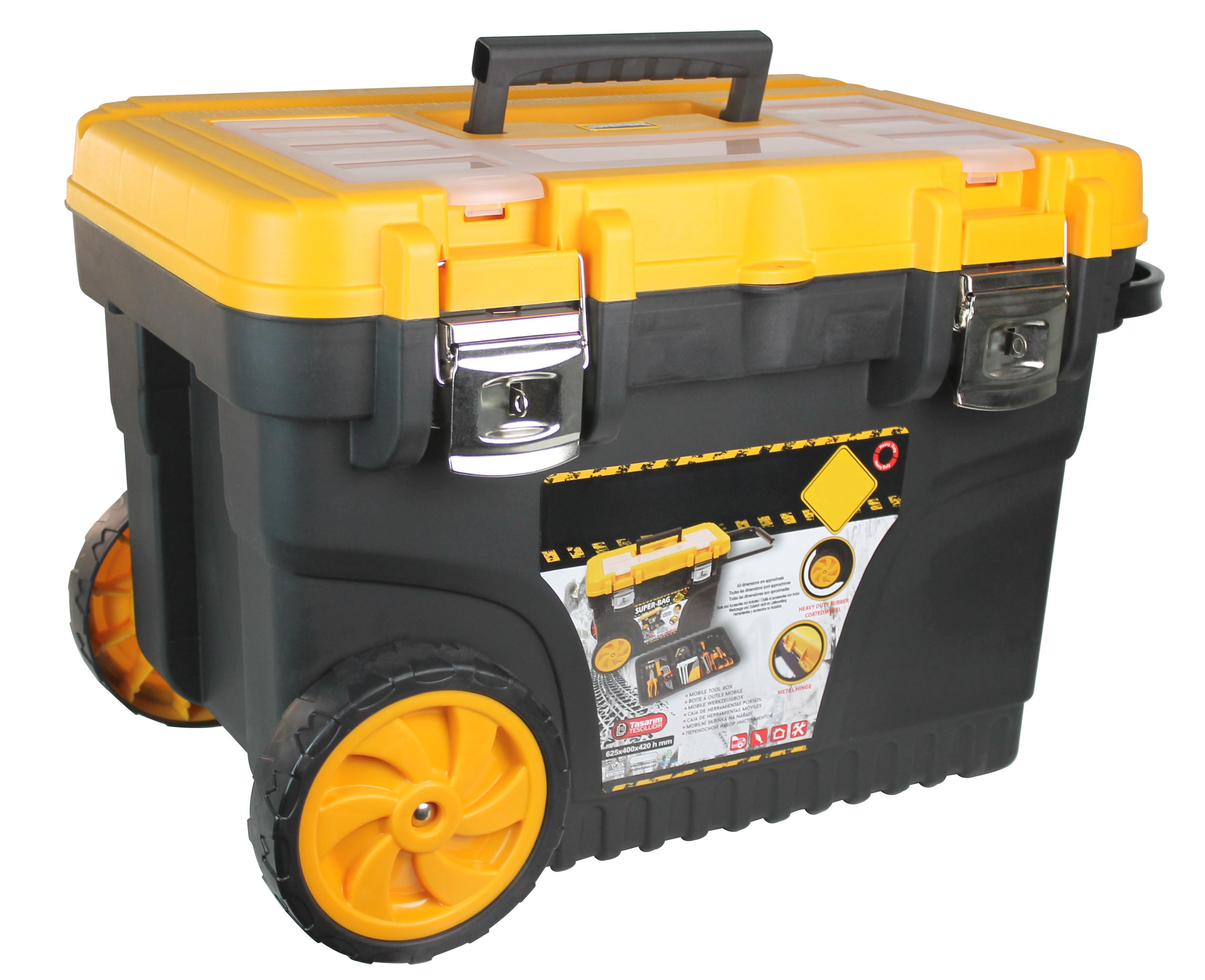 "Trolley Herramientas con Ruedas 25"" 42x60x40cm GH91"