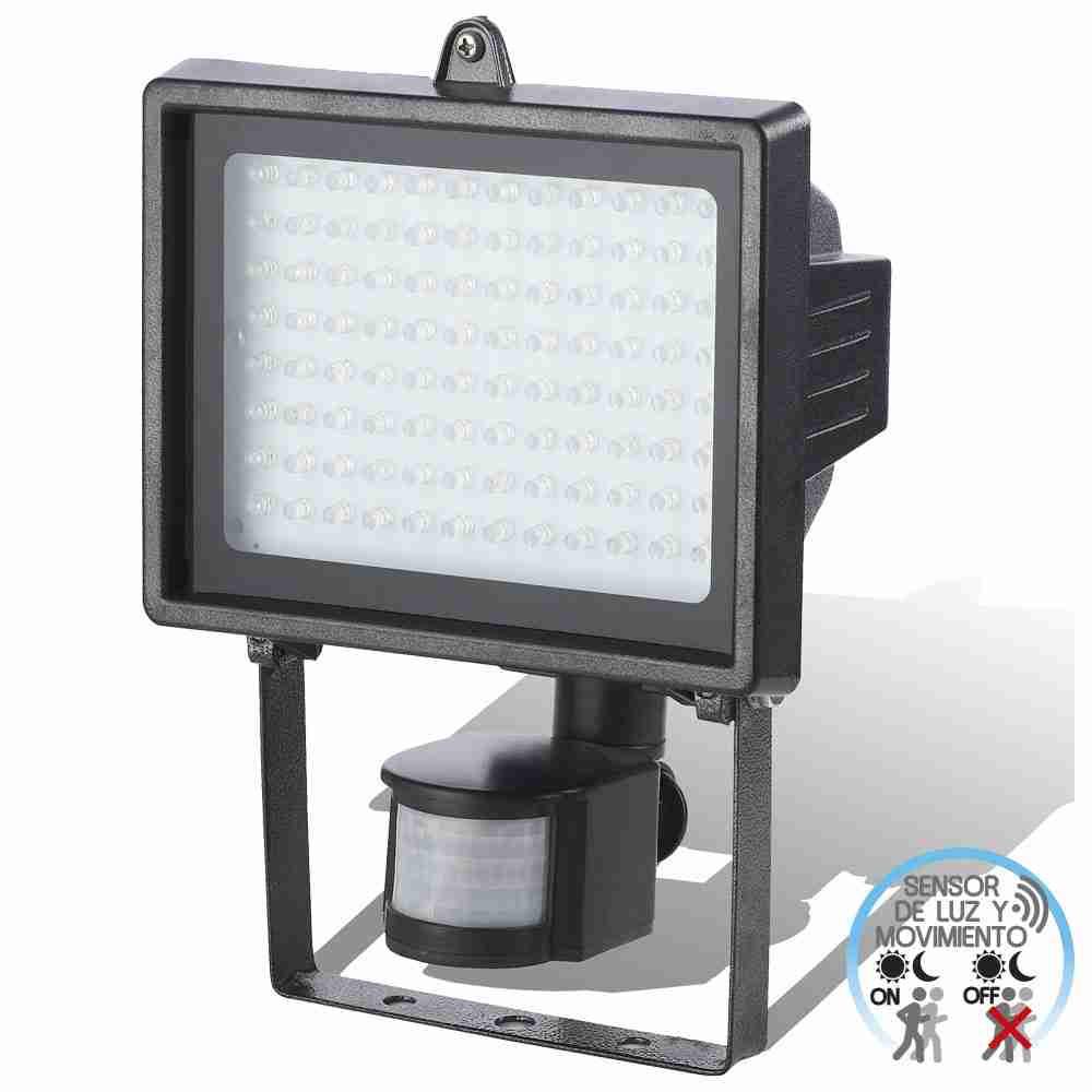 Proyector LED 6W de Exterior Orientable con Sensor de Movimiento Negro 6000K 7hSevenOn Outdoor