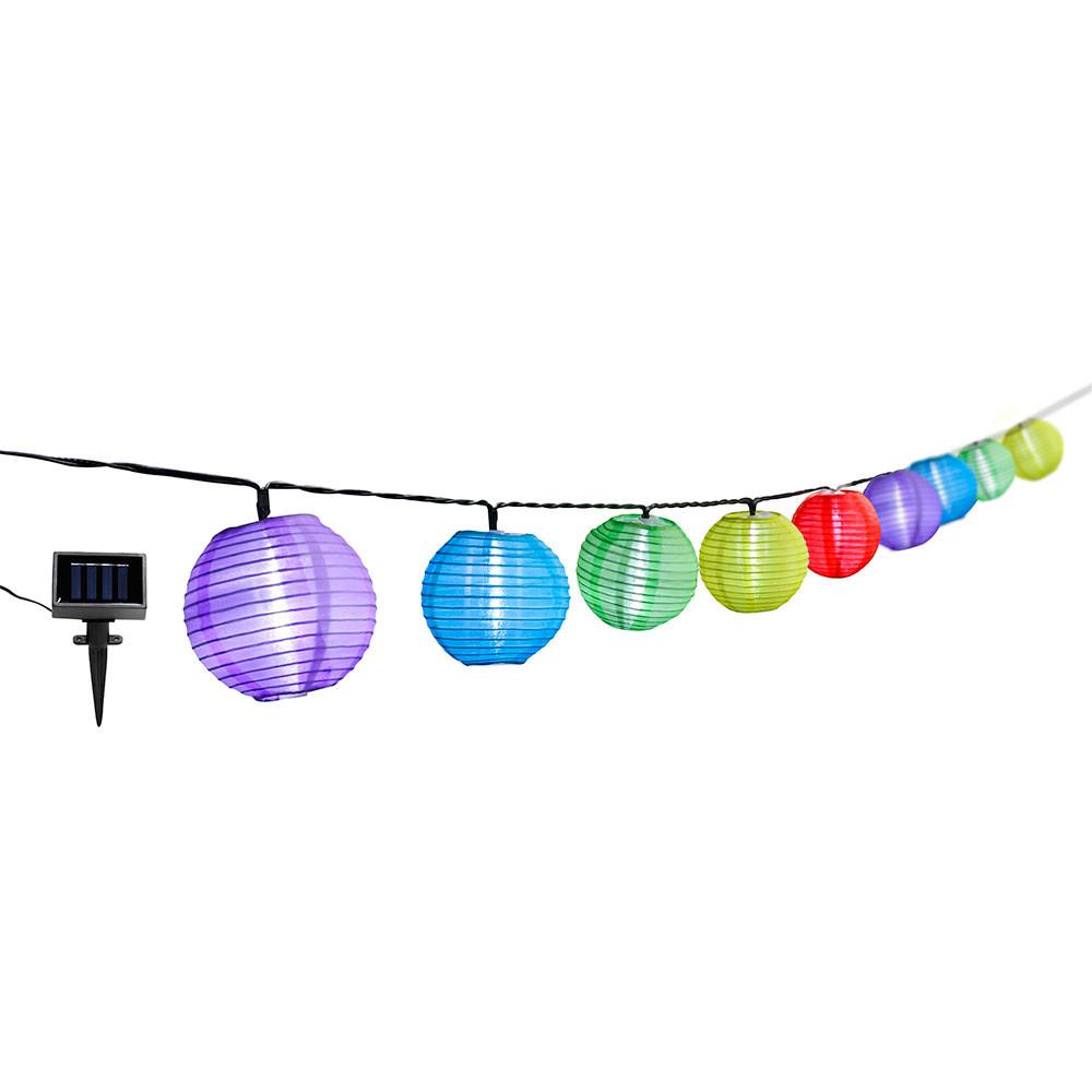 Guirnalda Solar LED Crepuscular con 10 Luces de Colores Nine&One